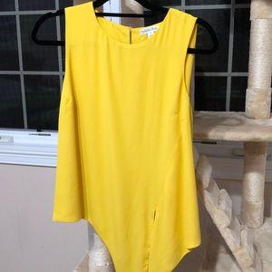 yellow tank blouse
